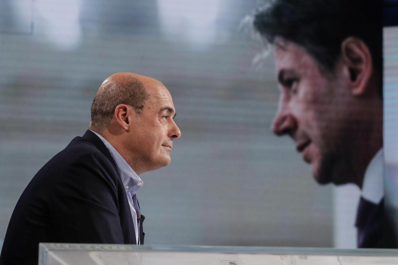 Il segretario del Pd Nicola Zingaretti e il premier Giuseppe Conte