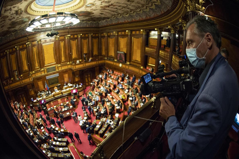 L'aula del senato che ha approvato definitivamente le legge di bilancio