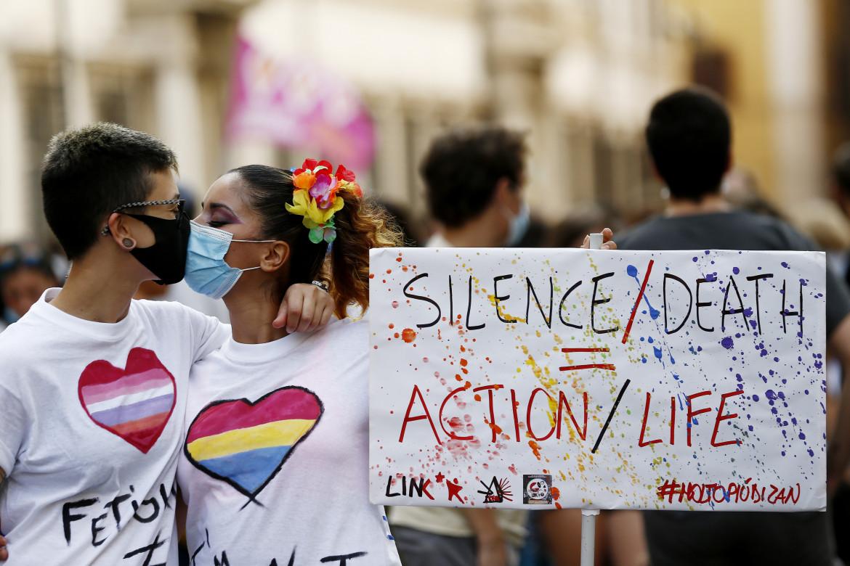 Manifestazione per i diritti lgbtq+