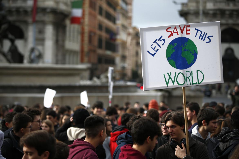 Manifestazione contro il global warming.