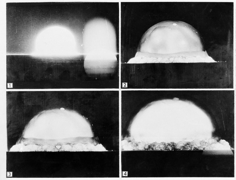 16 luglio 1945, il primo test di una bomba nucleare ad Alamogordo (New -Mexico, Usa)