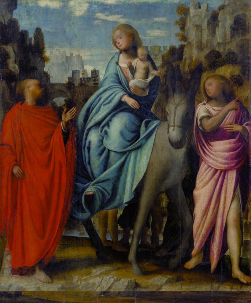 Bartolomeo Suardi, detto il Bramantino, «Fuga in Egitto», 1510-1515 ca, Orselina, Madonna del Sasso