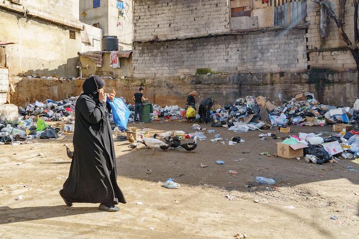 Per le strade del campo profughi palestinese di Shatila