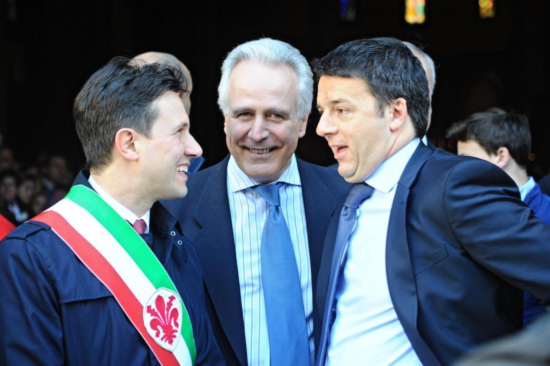 Dario Nardella, Eugenio Giani e Matteo Renzi