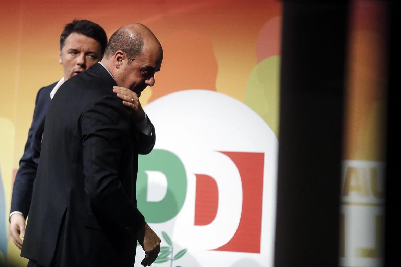 Nicola Zingaretti e Matteo Renzi