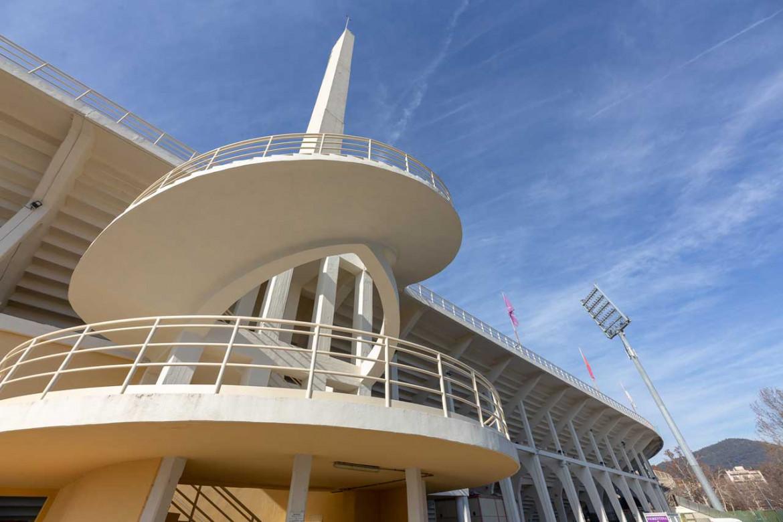 Le scale elicoidali dello stadio Artemio Franchi realizzato da Pier Luigi Nervi