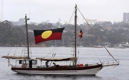 La bandiera strappata degli aborigeni d8217Australia