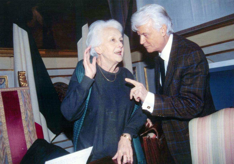 Rossana Rossanda e Gian Carlo Caselli ad un convegno di Antigone, 1999