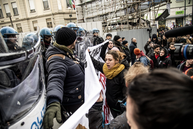 Una manifestazione degli studenti a Torino