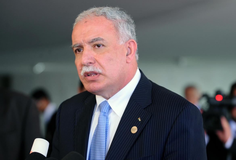 Il ministro degli esteri palestinese Riad al Malki