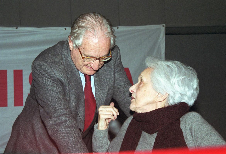 Aldo Tortorella e Rossana Rossanda nel 2015