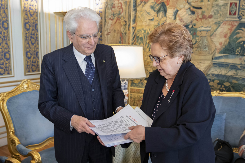 Carla Nespolo con il presidente Sergio Mattarella