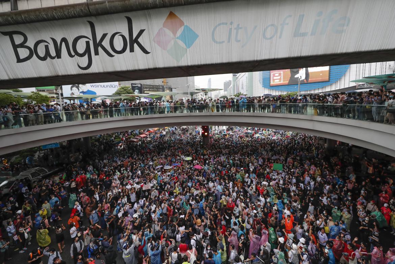 Protesta contro il governo a Bangkok