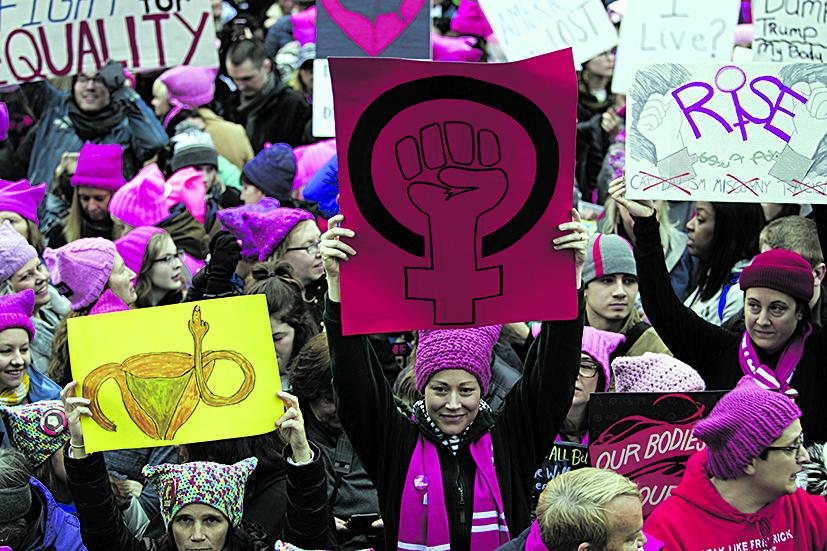 Manifestazione delle donne negli Stati uniti