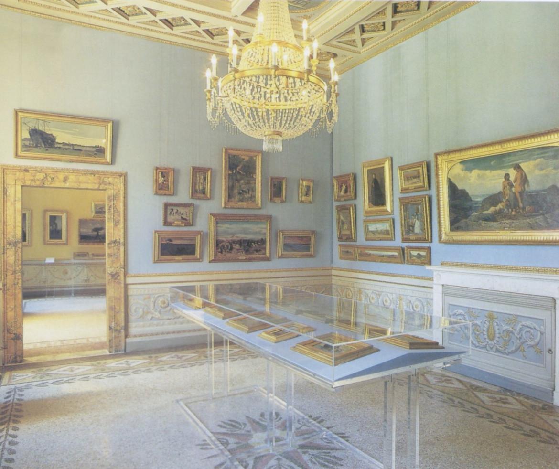 Una sala della Galleria d'Arte Moderna a Firenze, Palazzo Pitti, nell'allestimento di Sandra Pinto