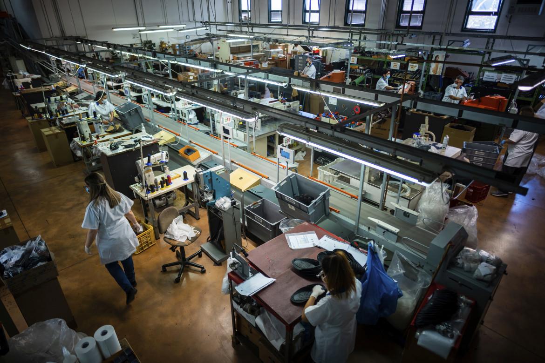 Lavoratrici in un'azienda italiana