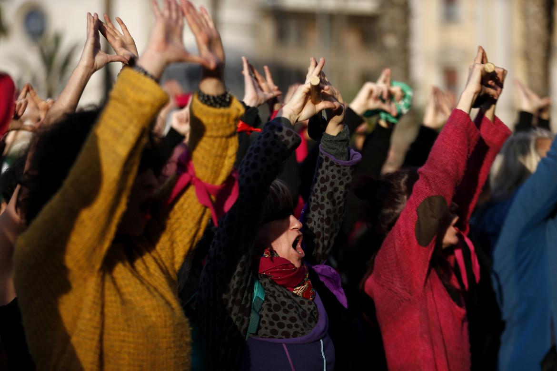 Manifestazione contro la violenza di genere.