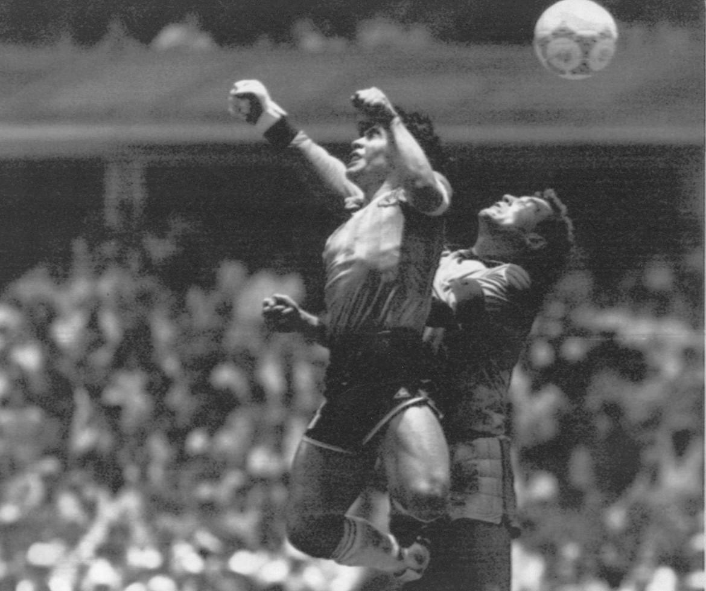 Il goal di mano all'Inghilterra nel mondiale dell'86