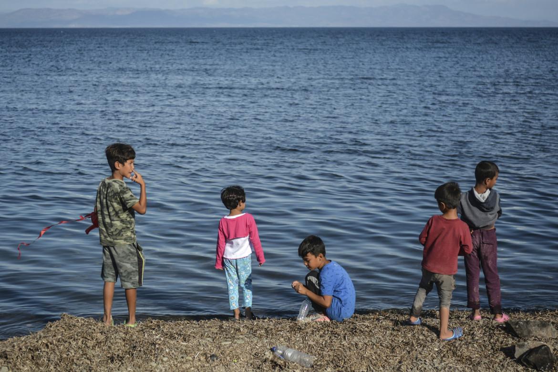 Migranti minori a Lesbo.