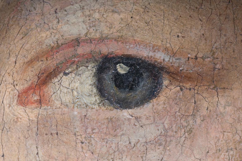 Dettaglio di occhio di donna in un dipinto barocco, Shutterstock inc.