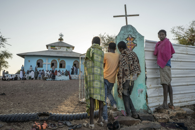 Messa domenicale per i profughi tigrino del campo di Umm Rakouba, nel Sudan orientale