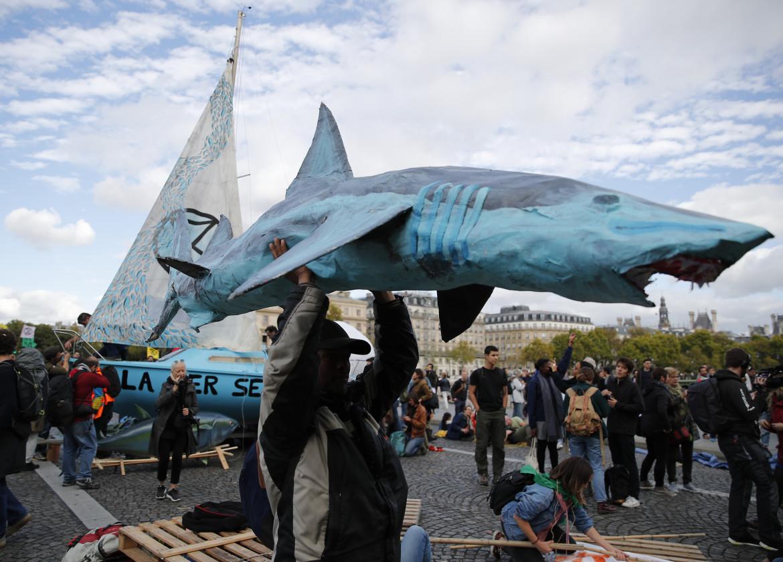 Protesta di Extinction Rebellion nel novembre 2020