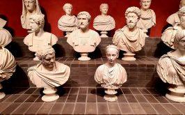 Alcuni dei marmi della Fondazione Torlonia esposti a Palazzo Caffarelli