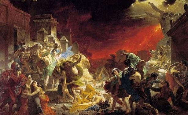 L'ultimo giorno di Pompei dipinto tra il 1830 al 1833 da Karl Brjullov