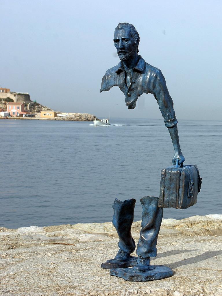 Particolare da un'installazione di Bruno Catalano realizzata a Marsiglia
