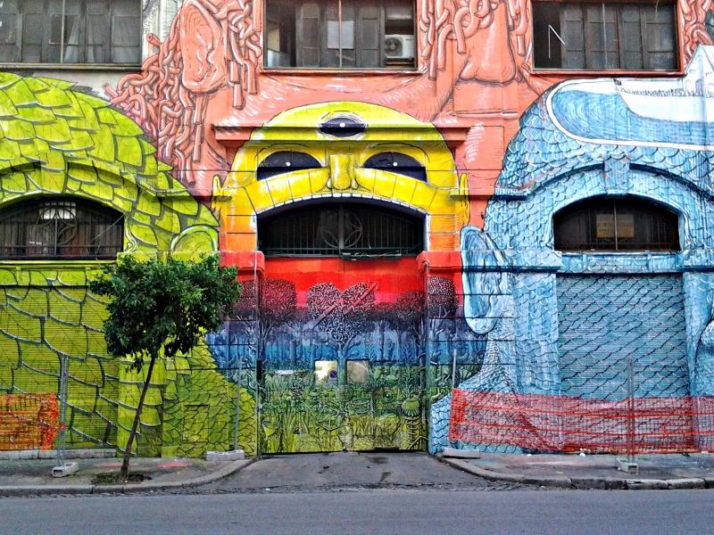 Roma, un murales di Blu al Porto fluviale