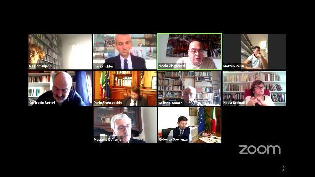 L'incontro di ieri mattina via Zoom con D'Alema, Zingaretti, Bettini, Speranza, Renzi, Amato, Franceschini e Schlein