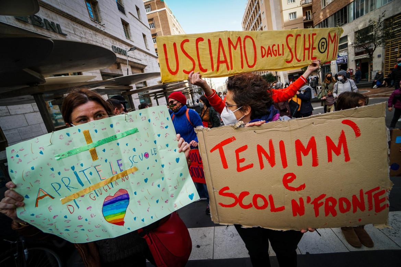 La protesta a Napoli