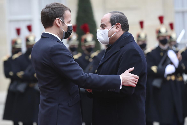Macron e al-Sisi all'Eliseo lo scorso dicembre
