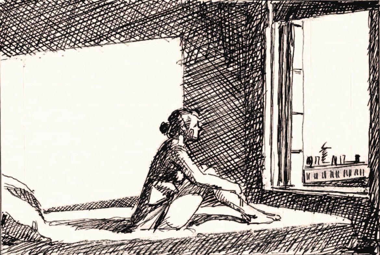 Edward Hopper, lo schizzo