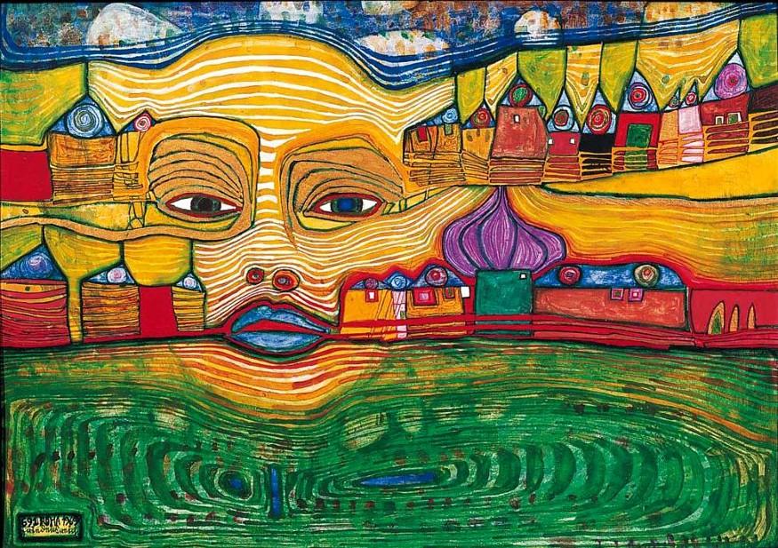 Un'opera di Friedensreich Hundertwasser