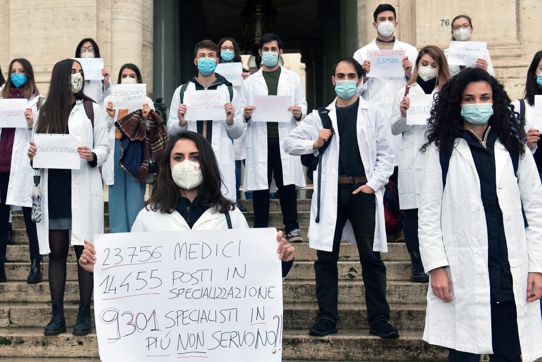 La protesta degli specializzandi