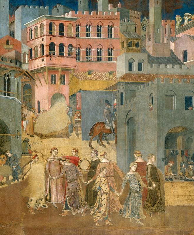 Ambrogio Lorenzetti, Allegoria del Buon e del Cattivo Governo, Palazzo Pubblico di Siena (1338-1339)