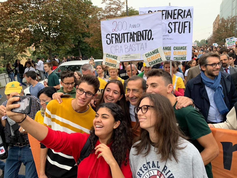 Milano, Giuseppe Sala a una manifestazione Fridays for future del settembre 2019