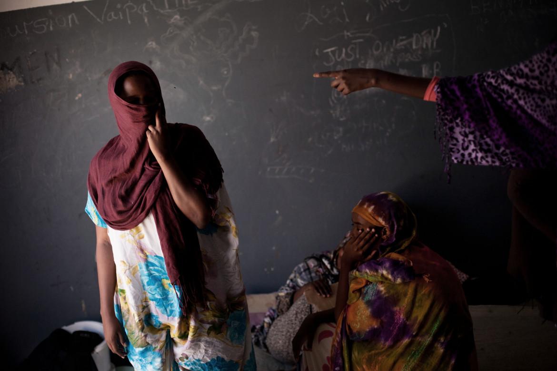 Donne migranti nei centri libici
