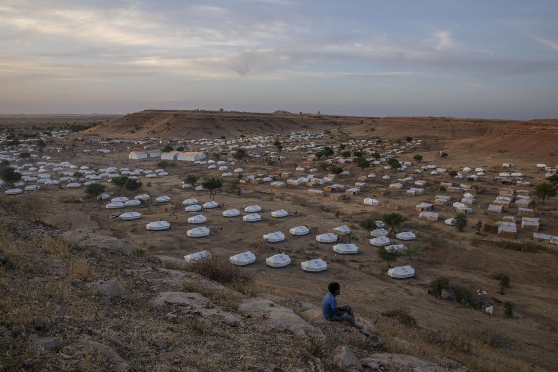 Le tende approntate per i profughi tigrini nel campo di Umm Rakouba, in Sudan