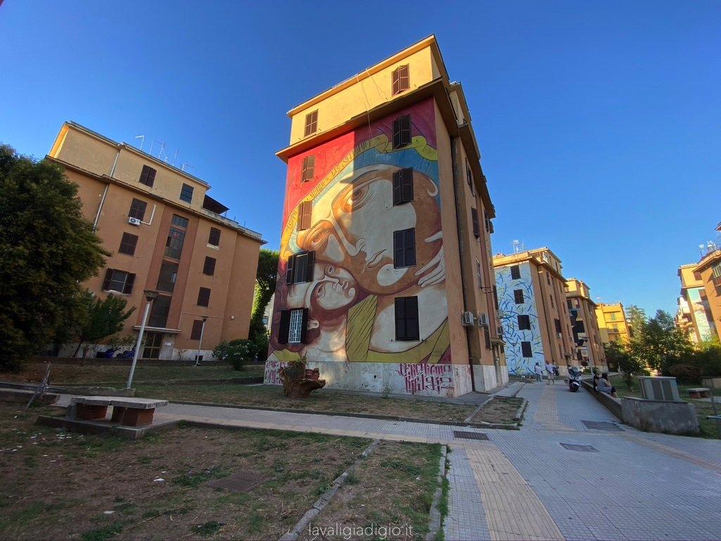 Il quartiere popolare di Tor Marancia a Roma