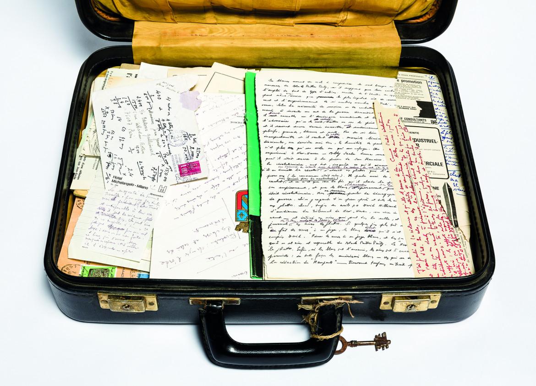 Valigia che apparteneva a Jean Genet. Archives Jean Genet / IMEC. ©Michael Quemener.