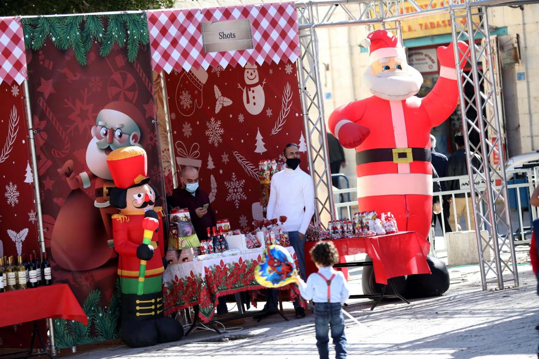 Betlemme. Mercatino di Natale nella piazza della Mangiatoia