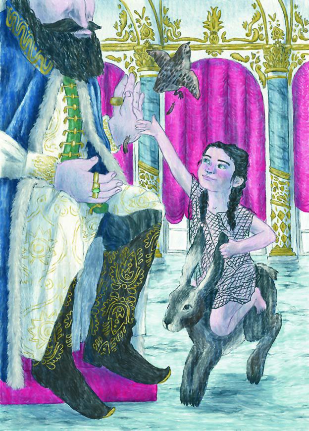 Un'illustrazione di Cecilia Campironi per il volume «Le mille e una donna» di Angela Carter