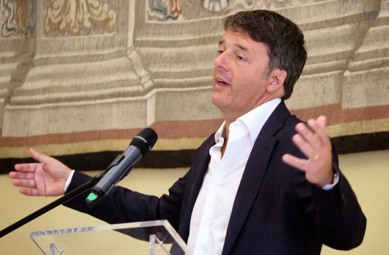 La conferenza stampa di Matteo Renzi ieri in Senato