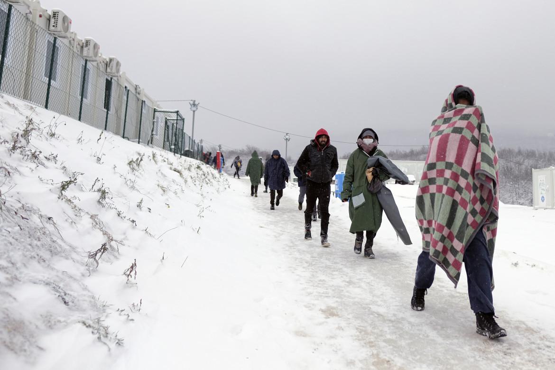 Migranti sfollati in Bosnia.