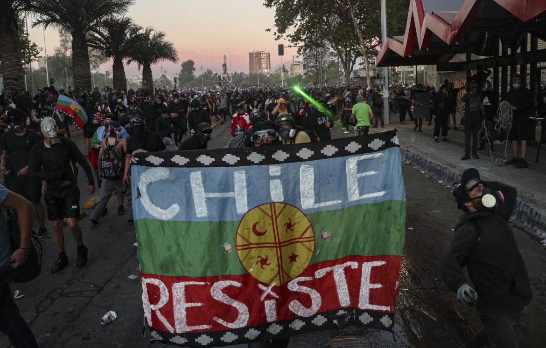 Manifestazione di protesta mapuche