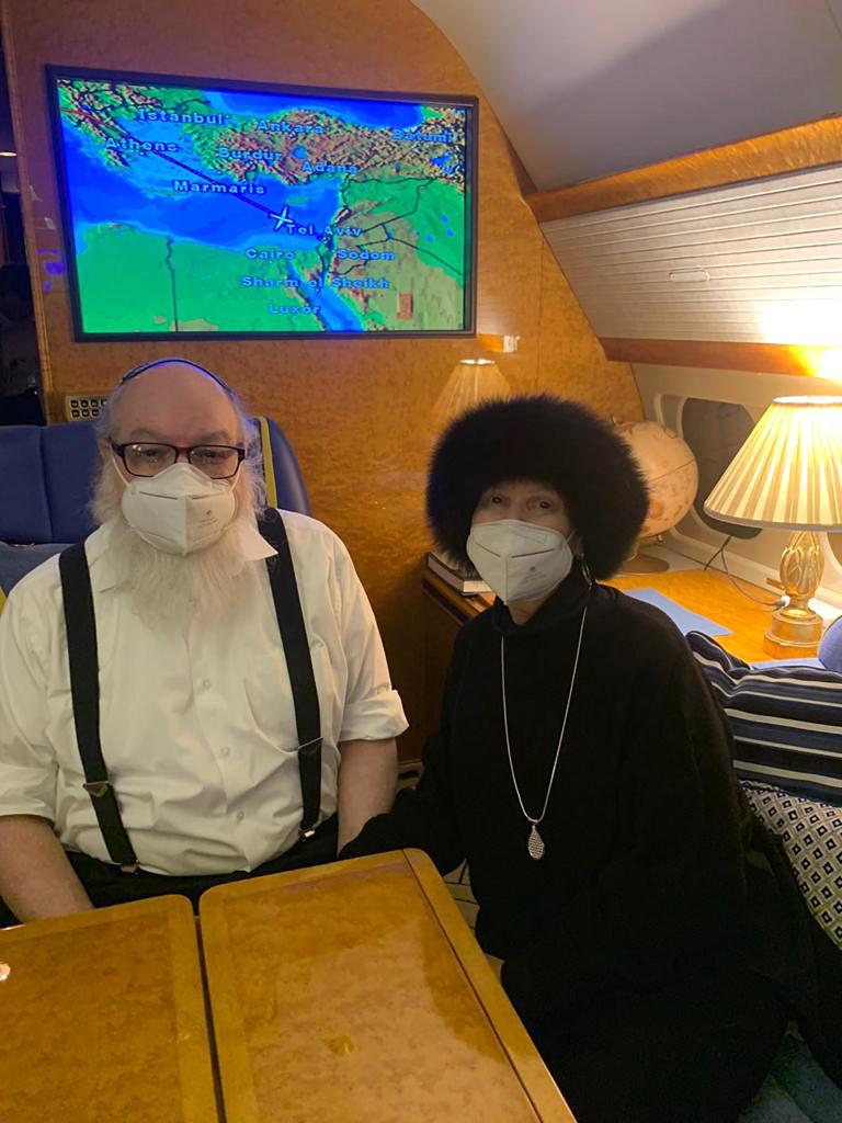 Jonathan Pollard e la moglie Esther sull'aereo diretto a Tel Aviv