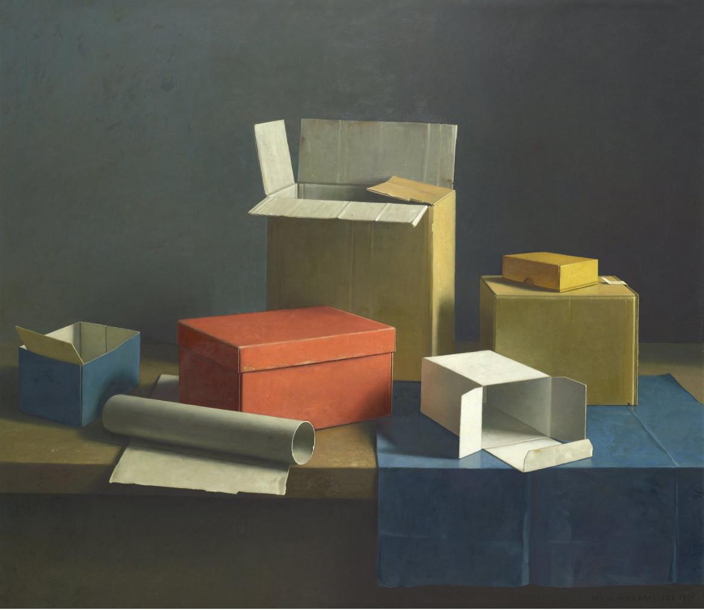 Henk Helmantel,  Dozenstilleven,  olio su tavola, 1998