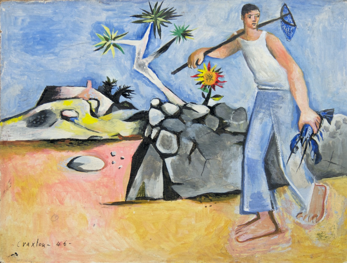 John Craxton,  Greek Fisherman, 1946, Chichester, Pallant House Gallery